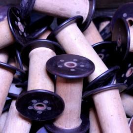 bobine ancienne bakelite atelier 1930 couture bois