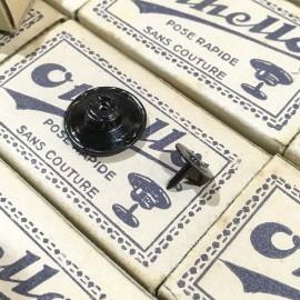 buttons box othello metal black antique vintage 1930 17mm