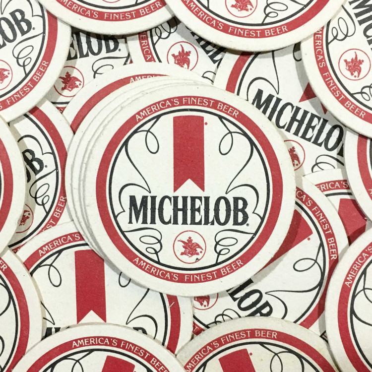 michelob bar tabac sous bock carton ancien vintage alcool 1970
