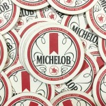 michelob coaster antique vintage cardboard bar 1970