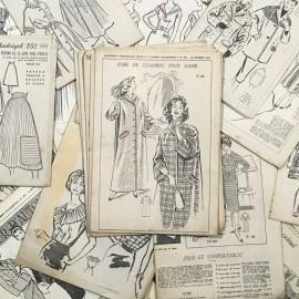 journal fashion mode ancien vintage patrons mercerie 1960