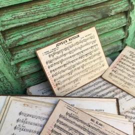 partition de fanfare orchestre concert vintage papier carton 1930 1940 ancien ancienne vintage