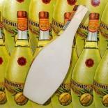 carton publicitaire ancien bouteille st galmier citronnade citron 1930 bistrot bar