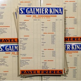 glacoide plastic tag price poster quinquina kina vintage 1930 st galmier bar bistrot advertising antique ravel frères