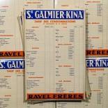 glacoide affichage prix pancarte tarifs st galmier quinquina kina 1930 bistrot bar ravel frères codec