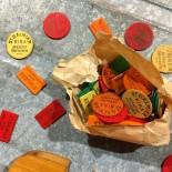 support socle bar jeu jeton bois ancien st galmier kina 1930 vintage jeu cartes bistrot