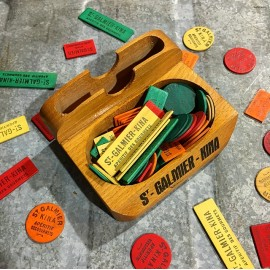 counter game wood chip 1930 st galmier kina quinquina bistrot card