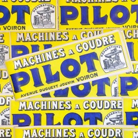 small poster pilot haberdashery antique vintage printing factory 1930