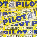 pilot affiche papier imprimerie mercerie machine à coudre ancien vintage 1930