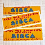 small poster sisca antique vintage paper bar 1930