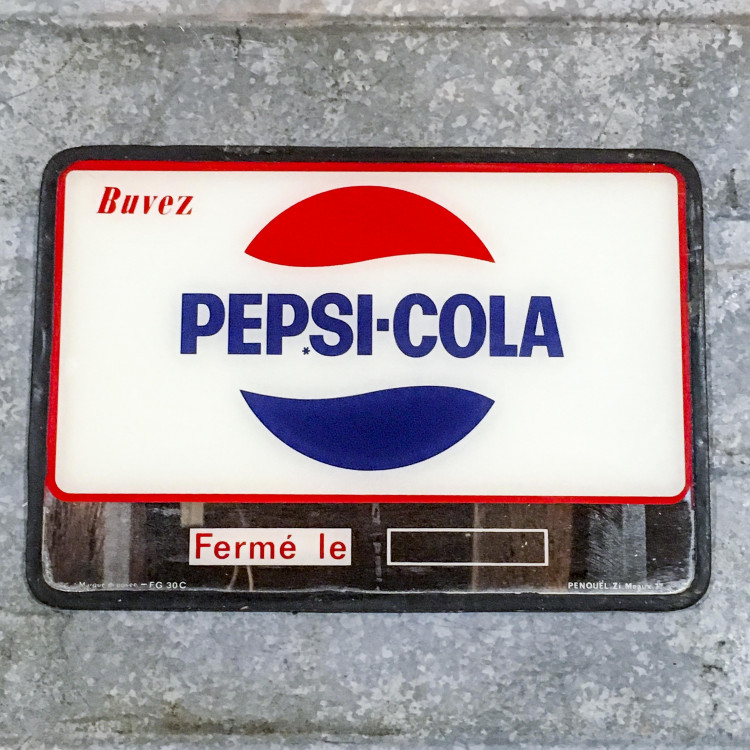 pepsi cola sign mirror antique vintage display window bar 1970