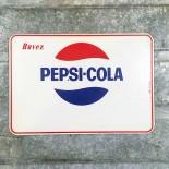 pepsi cola pancarte vitrine miroir ancien vintage bar bistrot 1970