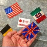 lot de petits drapeaux anciens seconde guerre mondiale 1940 états unis transatlantique