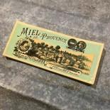 label paper vintage antique honey miel de provence mas de la feuillanne fos sur mer 1930