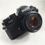 Nikon Fm2 black 50mm 1.8 analog film camera