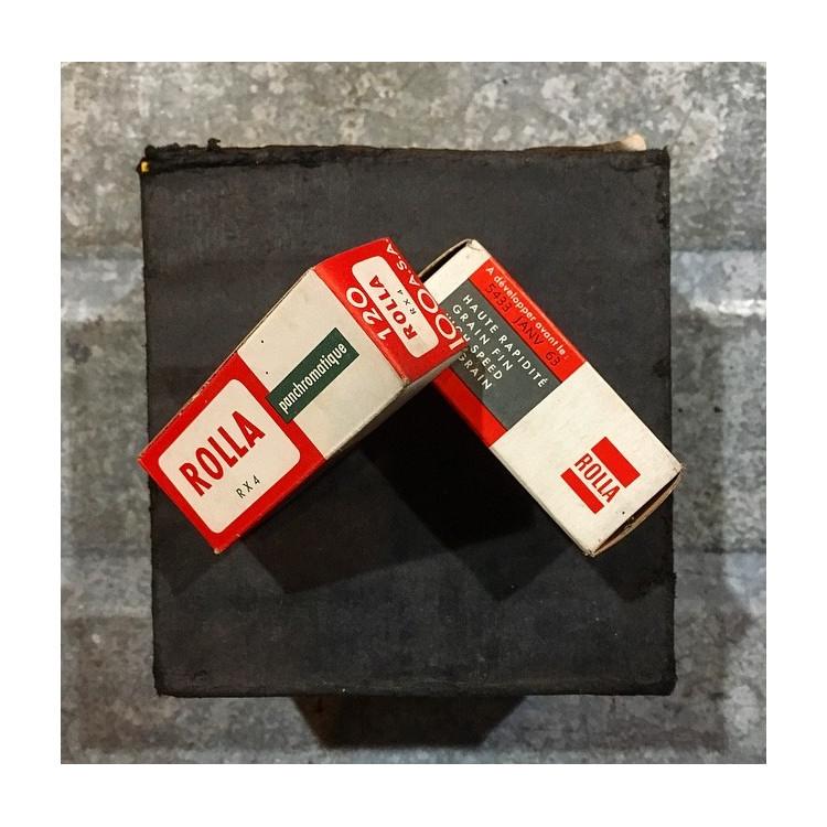 pellicule ancienne argentique 1963 périmée noir et blanc rolla Rx4 100 iso