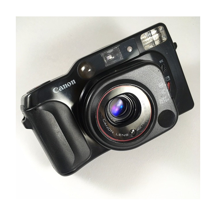 canon top twin toptwin autofocus point and shoot compact argentique appareil film pellicule 1986 40mm 70mm