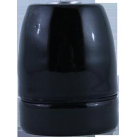 Douille Porcelaine Noire E27