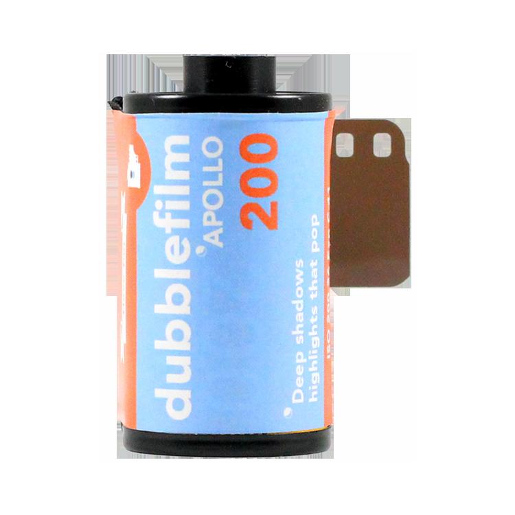 dubblefilm dubble film 200 iso film couleur pellicule avec effet vintage 36 poses apollo