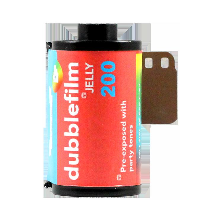 dubblefilm dubble film 200 iso film couleur pellicule avec effet vintage 36 poses jelly