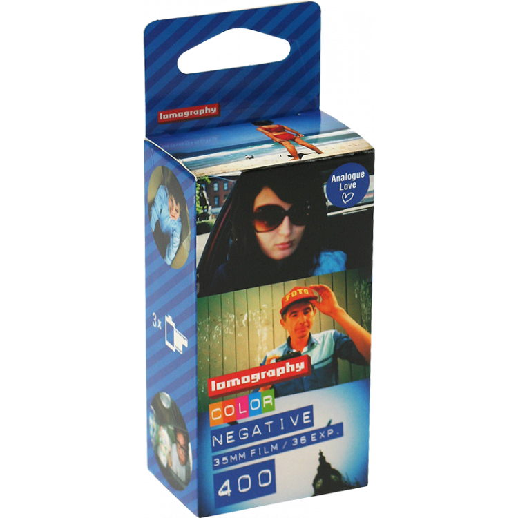 pack 3 lomography lomo 400 35mm 135 color negative 400 analog color film