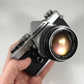 olympus om1 135 argentique g.zuiko 50mm 1.4 reflex g zuiko argent appareil vintage